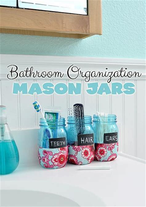 craft ideas for bathroom decoart blog crafts bathroom organization mason jars