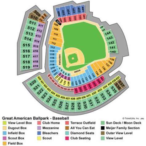 great american ballpark map seating at great american ballpark brokeasshome