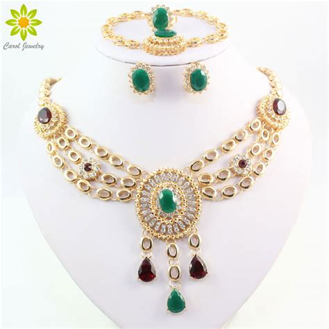 Fashion Bridal Jewelry Sets new fashion gold plated bridal wedding costume jewelry set