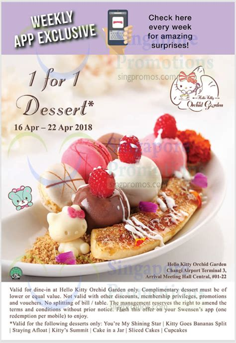 Hello Orchid hello orchid garden cafe 1 for 1 desserts this week