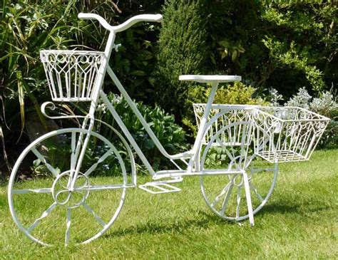 Shabby Chic Garden Planters by Shabby Chic Garden Bicycle Flower Planter