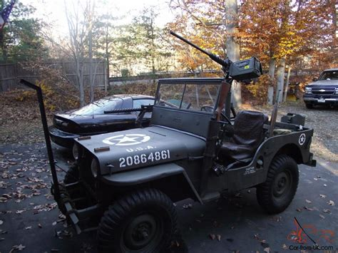 military jeep with gun military jeep willys 1947 cj2a gun truck ww2