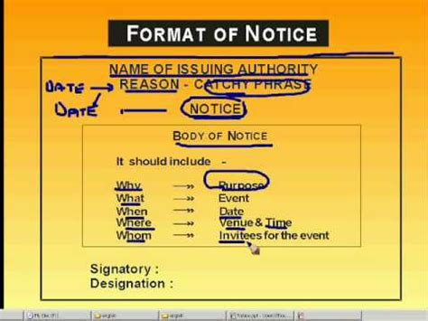 pattern of writing a notice notice writing youtube
