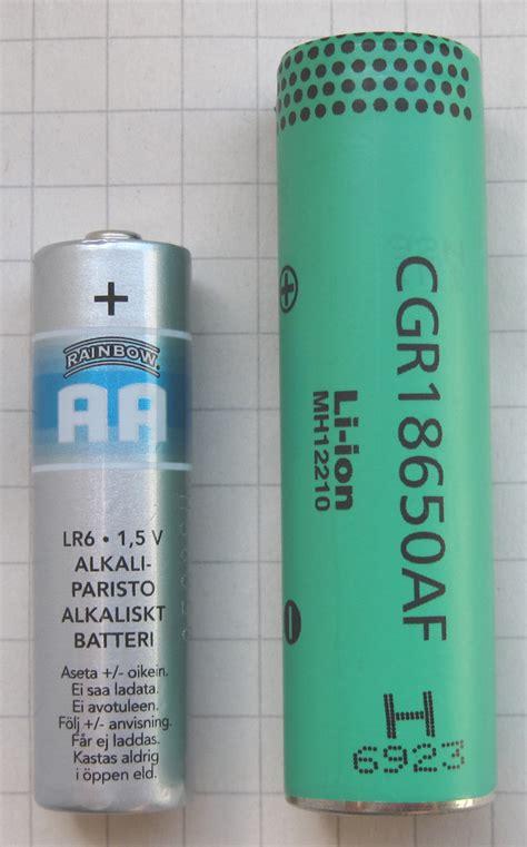 lithium ion aa batteries file liion 18650 aa battery jpg wikimedia commons