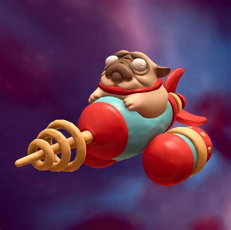 pug rocket turbo clay rocket pug polycount