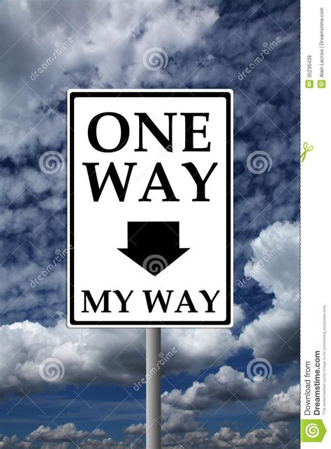 way way one way my way royalty free stock images image 35236439