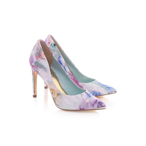 ted baker shoes ted baker luceey high heeled floral shoe blueberries