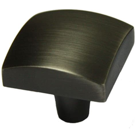 shop allen roth iron black square cabinet knob at lowes