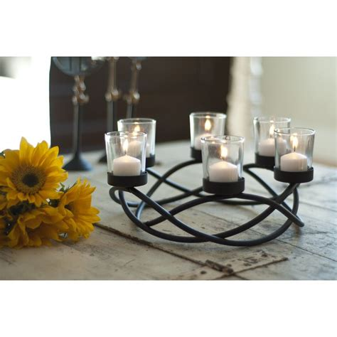 accent your indoor or outdoor table with this round candle