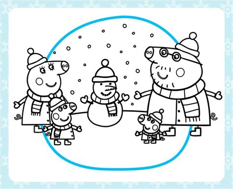 christmas colouring pages peppa pig stay warm with a printable peppa pig winter coloring pack