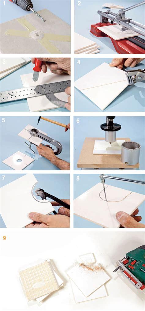 come tagliare le piastrelle forare le piastrelle guida illustrata