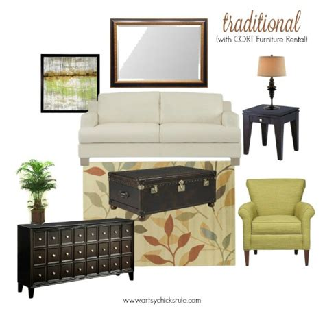 Cort Rental Furniture by Decorating Ideas 1 Room 3 Ways With Cort Furniture