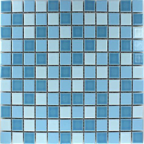 Mosaikfliesen Keramik Blau Mix 25x25x5mm   TM33025m