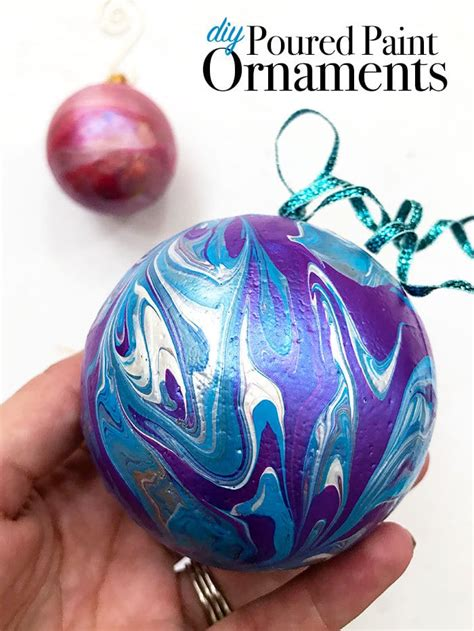 painting ornaments with acrylic paint diy poured paint ornaments 100 directions