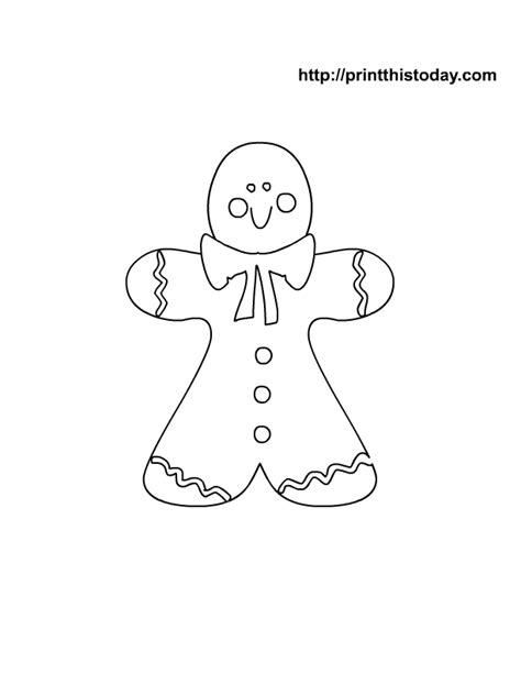 cute gingerbread man coloring page printable christmas coloring pages for kids free