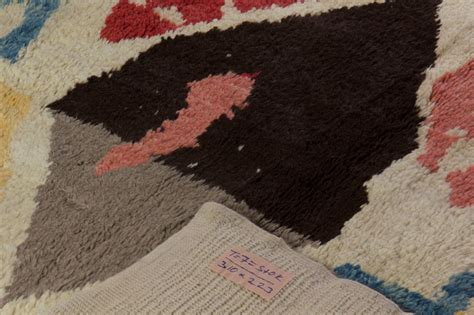 colorful moroccan wool rug for sale at 1stdibs