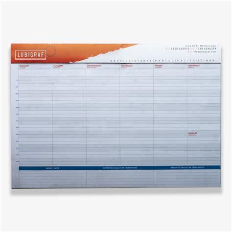 planning da scrivania planning da scrivania 48 x 33 cm lubigraf