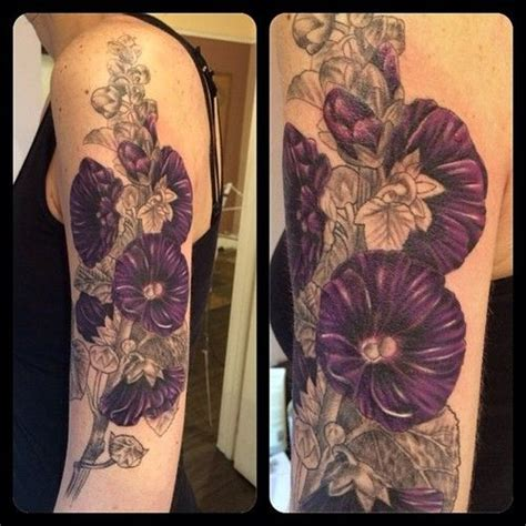 hollyhock tattoo added some color to rachel s