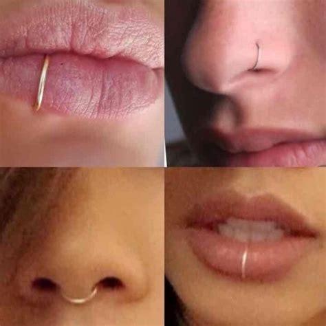 flesh colored nose stud aretes magneticos agujero piercing hueco