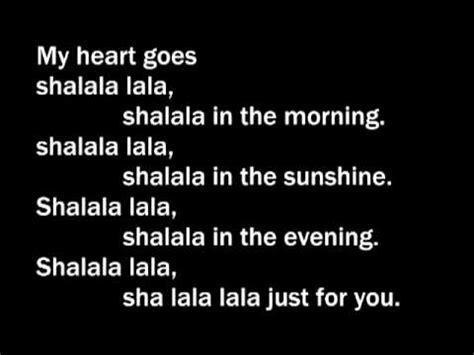 lyrics sha sha la la la la videolike