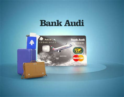 audi bank sal bank audi cedar card on behance