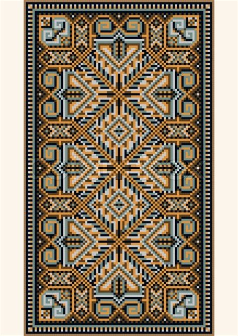 oriental designs oriental design in the frame for carpet stock vector