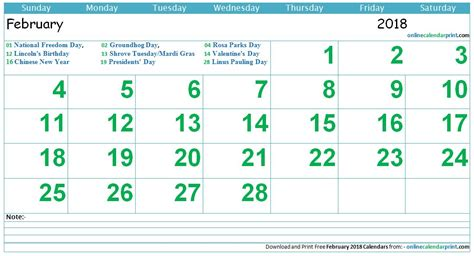 new year 2018 february february calendar 2018 with holidays 2018 calendar