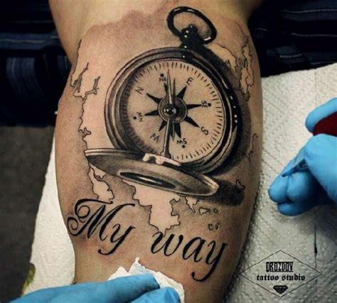 tattoo compass mit karte 40 wundervolle kompass tattoos tattoo ideen kompass und
