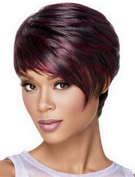 auburn highlights fir black women short hairdos 45 ravishing african american short hairstyles and