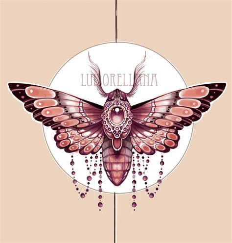 tattoo nouveau nouveau moth design sketch jugendstil moth