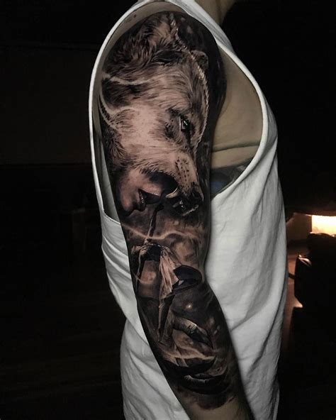 wolf tattoo sleeve designs sleeve tattoos ideas