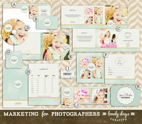 photography marketing templates set for photographers pre