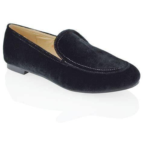 Flatshoes Velvet womens flat loafers velvet slip on pumps work office casual classic shoes ebay