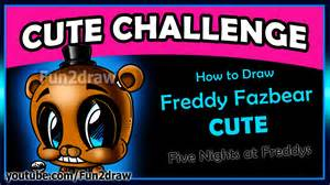 Cute five nights at freddy s how to draw freddy fazbear easy step by