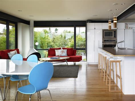 modern kitchen living room ideas armless sofa in kitchen modern with expandable dining table ideas next to kitchen