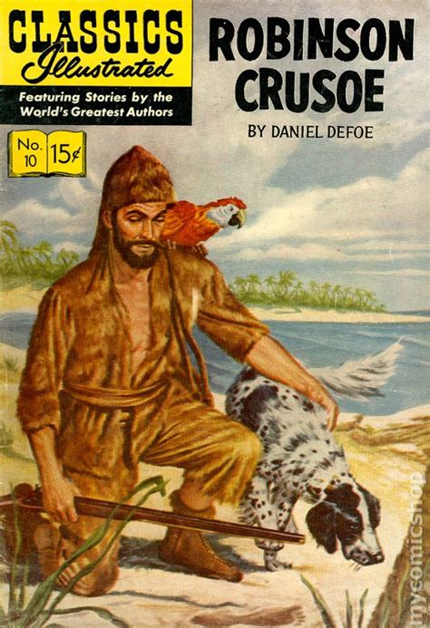 robinson crusoe books classics illustrated 010 robinson crusoe comic books