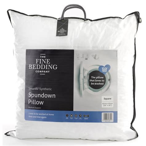 fine bedding fine bedding spundown square cotton synthetic pillow fine bedding from emporium home