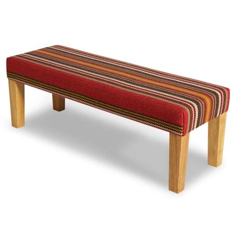 red upholstered bench upholstered bench chatham turkey red roger oates lifestyle