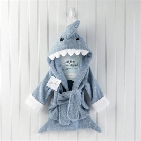 baby shark gifts hooded spa blue terry shark robe hoodies clothing boys