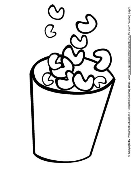 popcorn coloring pages preschool popcorn coloring pages preschool coloring pages