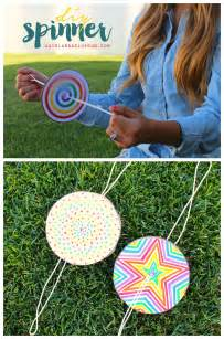 Kids Craft Summer - diy paper spinner for endless fun make and takes
