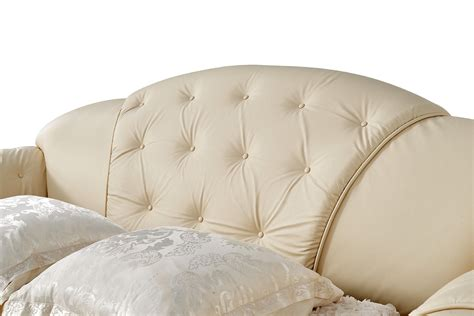 Luxury Sleeper Sofa by Versace Luxury Button Tufted Ivory Italian Leather Pull