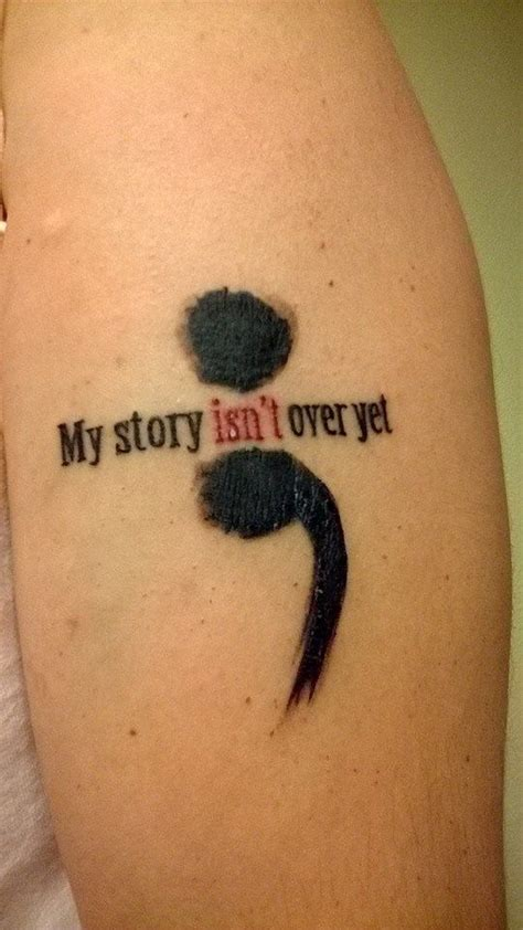 my isnt 46 beautiful semicolon tattoos
