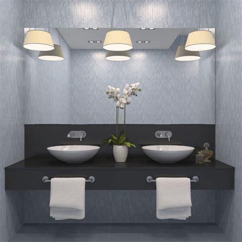 Crisp Gray Modern Bathrooms Lonny Grey Modern Bathroom
