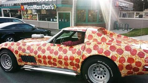 Pizza Auto by This Pepperoni Pizza Corvette Is Every Pizza Lovers Dream Car