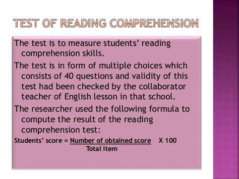Reading Comprehension Test Validity | the use of modified jigsaw strategy to improve the