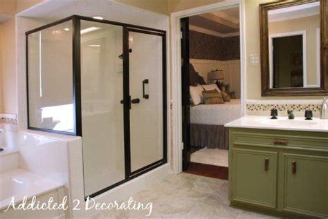 rubbed bronze shower door frame alice s master bathroom the reveal shower