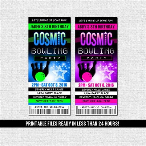 printable bowling tickets 349 best images about invitations on pinterest ticket
