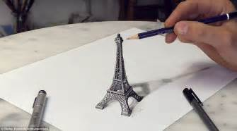 3d Drawing Online the drawings that jump off the page german artist s eye