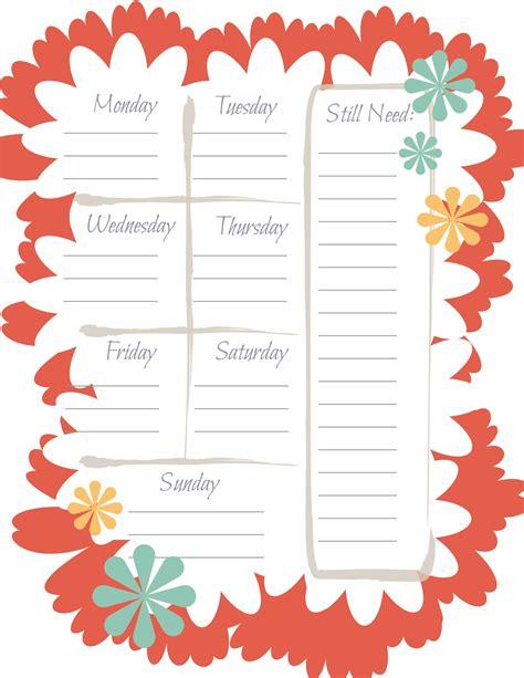 printable menu tags printable weekly menu planner search results calendar 2015